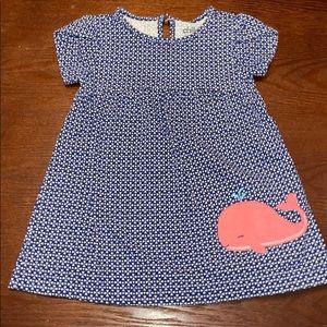 A blue dress from Carter's.